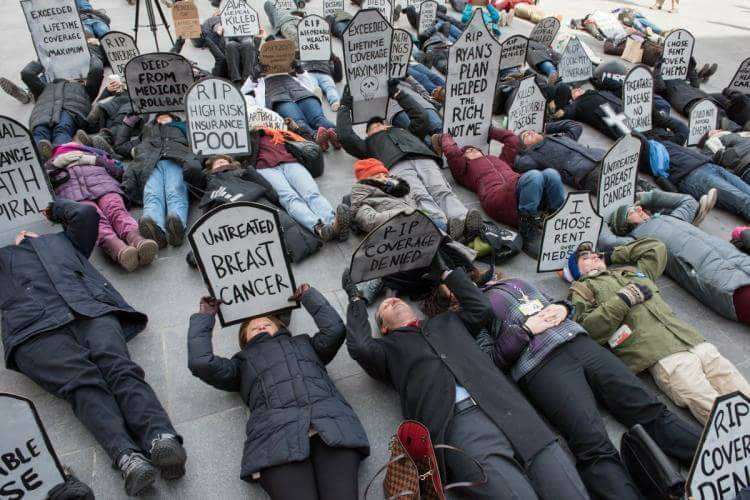 Health Care-Related Die-In on New Haven Green ThisSunday